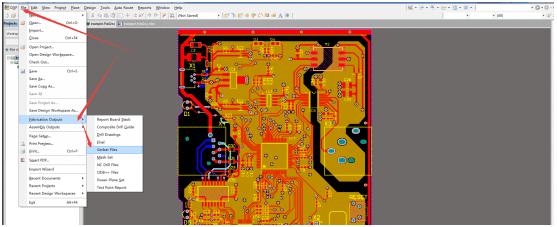 PCB Gerber from Altium designer PCB step 2