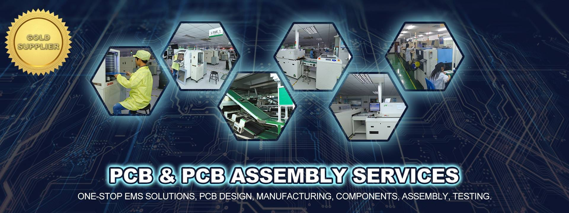 China PCB manufacturer and assembly servicer, with value-added services like design and components sourcing.