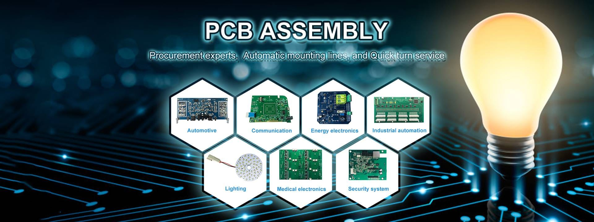 Being a qualified China PCB assembly manufacturer, we not only focus on PCB assy flow but also strive to bring customers' products to market.
