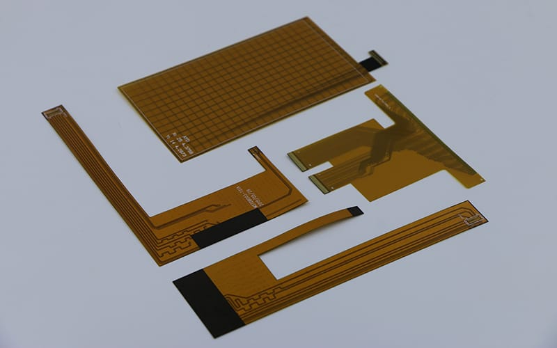 Connection portion semi flex PCBs