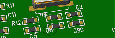 PCB circuit design mistake - silk covers the SMD pad