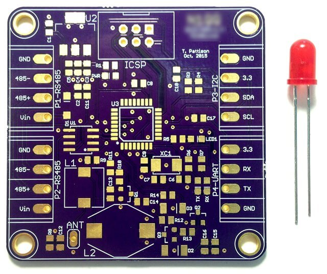 purple PCB solder mask
