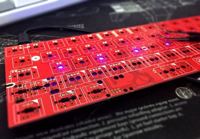 red PCB solder mask