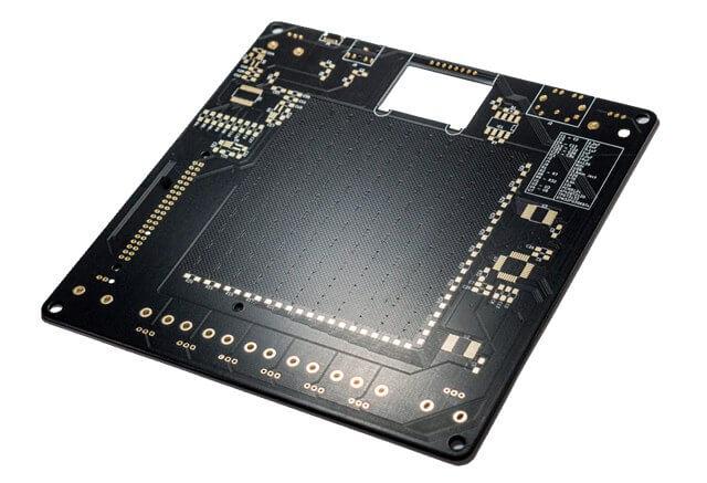 black PCB solder mask