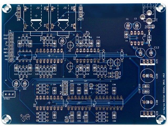 bluePCB solder mask