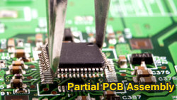 partial PCB assembly